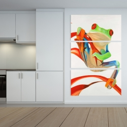 Canvas 40 x 60 - Red-eyed frog