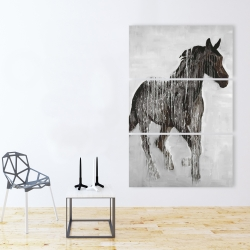 Canvas 40 x 60 - Abstract brown horse