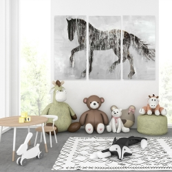 Canvas 40 x 60 - Horse brown silhouette