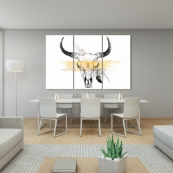 Canvas 40 x 60 - Cow skull with feather