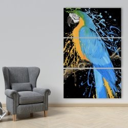Canvas 40 x 60 - Blue macaw parrot