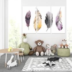 Canvas 40 x 60 - Bohemian feather set