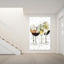 Canvas 40 x 60 - Beautiful wine glasses