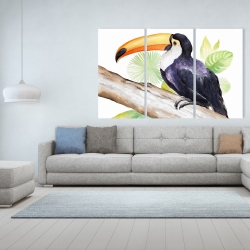 Canvas 40 x 60 - Toucan perched