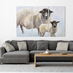 Canvas 40 x 60 - Sheep and its baby