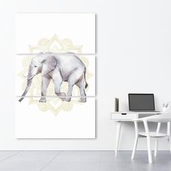Canvas 40 x 60 - Elephant on mandalas