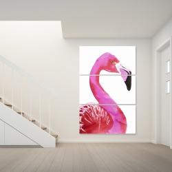 Canvas 40 x 60 - Watercolor proud flamingo profile