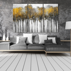 Canvas 40 x 60 - Abstract yellow forest