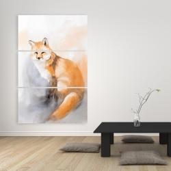 Canvas 40 x 60 - Watercolor fox