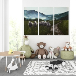 Canvas 40 x 60 - Sheep in the countryside