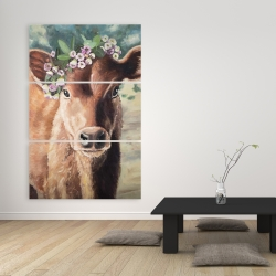 Canvas 40 x 60 - Cute jersey cow