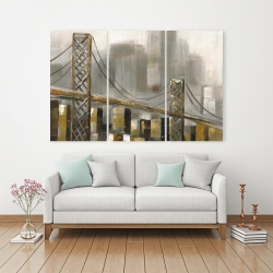 Canvas 40 x 60 - Bridge by a cloudy day