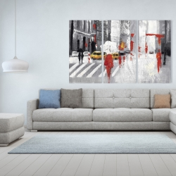 Canvas 40 x 60 - Abstract cloudy city street