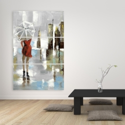 Canvas 40 x 60 - Red dress woman