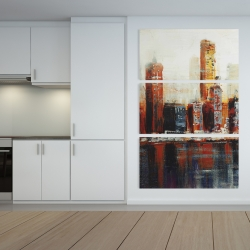 Canvas 40 x 60 - Abstract red cityscape