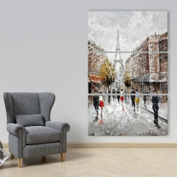 Canvas 40 x 60 - Paris busy street