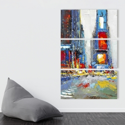 Canvas 40 x 60 - Abstract and colorful buildings