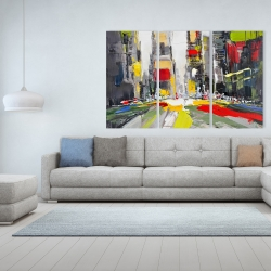 Canvas 40 x 60 - Abstract texturized cityscape