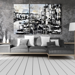 Canvas 40 x 60 - Abstract venise port