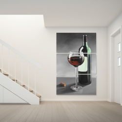 Canvas 40 x 60 - Bottle of burgundy