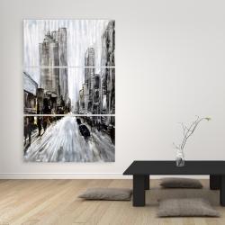 Canvas 40 x 60 - Gray gloomy street