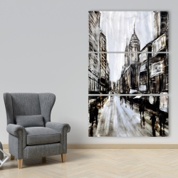 Canvas 40 x 60 - Busy gray street