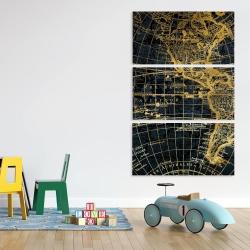 Canvas 40 x 60 - Blue and marine world map globe