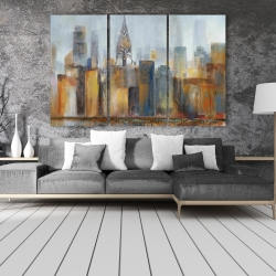 Canvas 40 x 60 - Cityscape with chrysler building