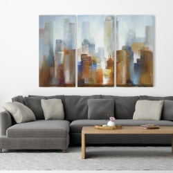 Canvas 40 x 60 - Cityscape in the fog