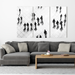 Canvas 40 x 60 - Overhead view of people on the street