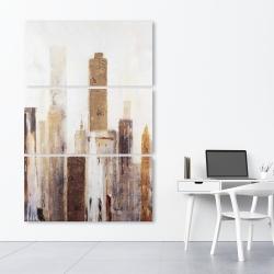 Canvas 40 x 60 - Abstract earthy tones city