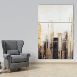 Canvas 40 x 60 - Earthy tones city