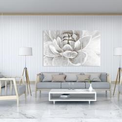 Canvas 40 x 60 - Delicate white chrysanthemum