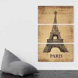 Canvas 40 x 60 - Eiffel tower illustration