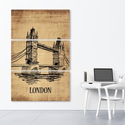 Canvas 40 x 60 - Tower bridge illustration