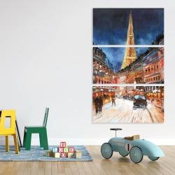 Canvas 40 x 60 - Illuminated paris