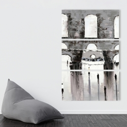 Canvas 40 x 60 - Gray building with passersby