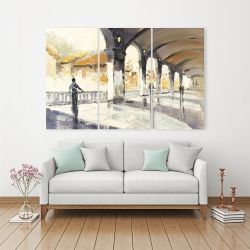Canvas 40 x 60 - People in a spacious hall
