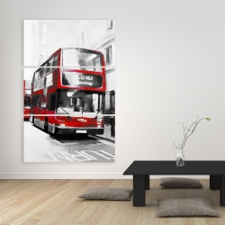 Canvas 40 x 60 - Red bus londoner