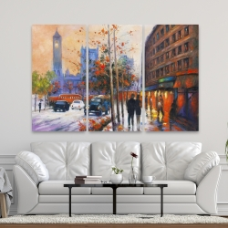 Canvas 40 x 60 - City by fall