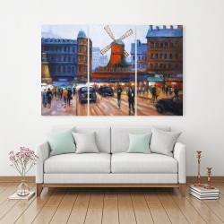 Canvas 40 x 60 - Street scene to moulin rouge