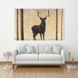 Canvas 40 x 60 - Roe deer in winter