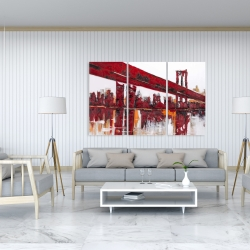 Canvas 40 x 60 - Red bridge