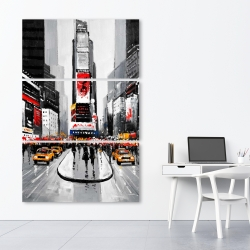 Canvas 40 x 60 - New york city busy street