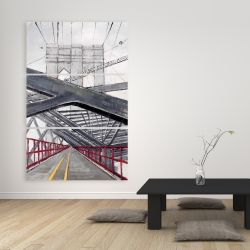 Canvas 40 x 60 - Under the brooklyn bridge
