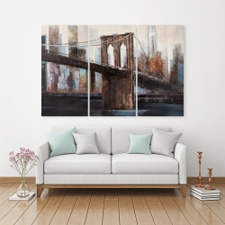 Canvas 40 x 60 - Urban brooklyn bridge