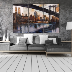 Canvas 40 x 60 - Sunset over new york