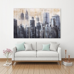 Canvas 40 x 60 - Buildings through the clouds