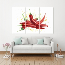 Canvas 40 x 60 - Red hot peppers