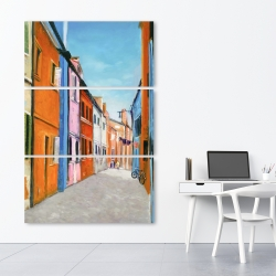 Canvas 40 x 60 - Colorful houses in italy